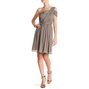J Crew 2 Cara Dress Gray Silk Chiffon Formal 881